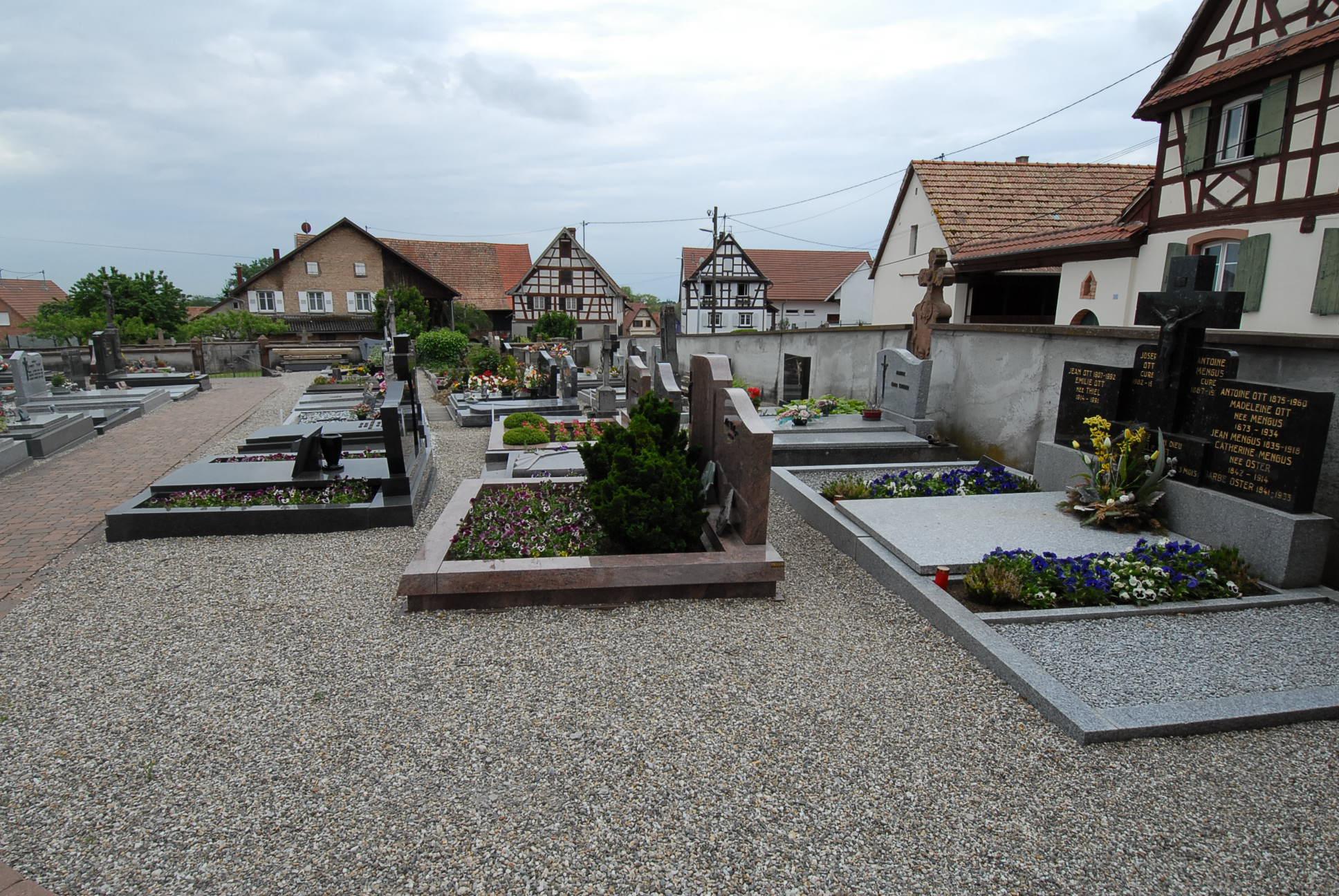 rangée du cimetière de Batzendorf