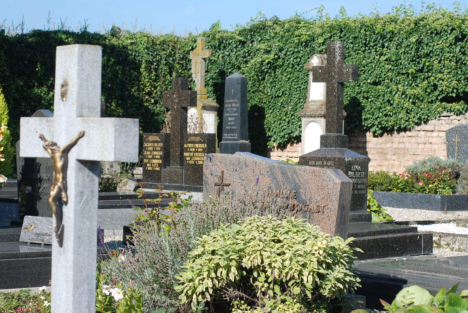 sépultures du cimetière de Furdenheim