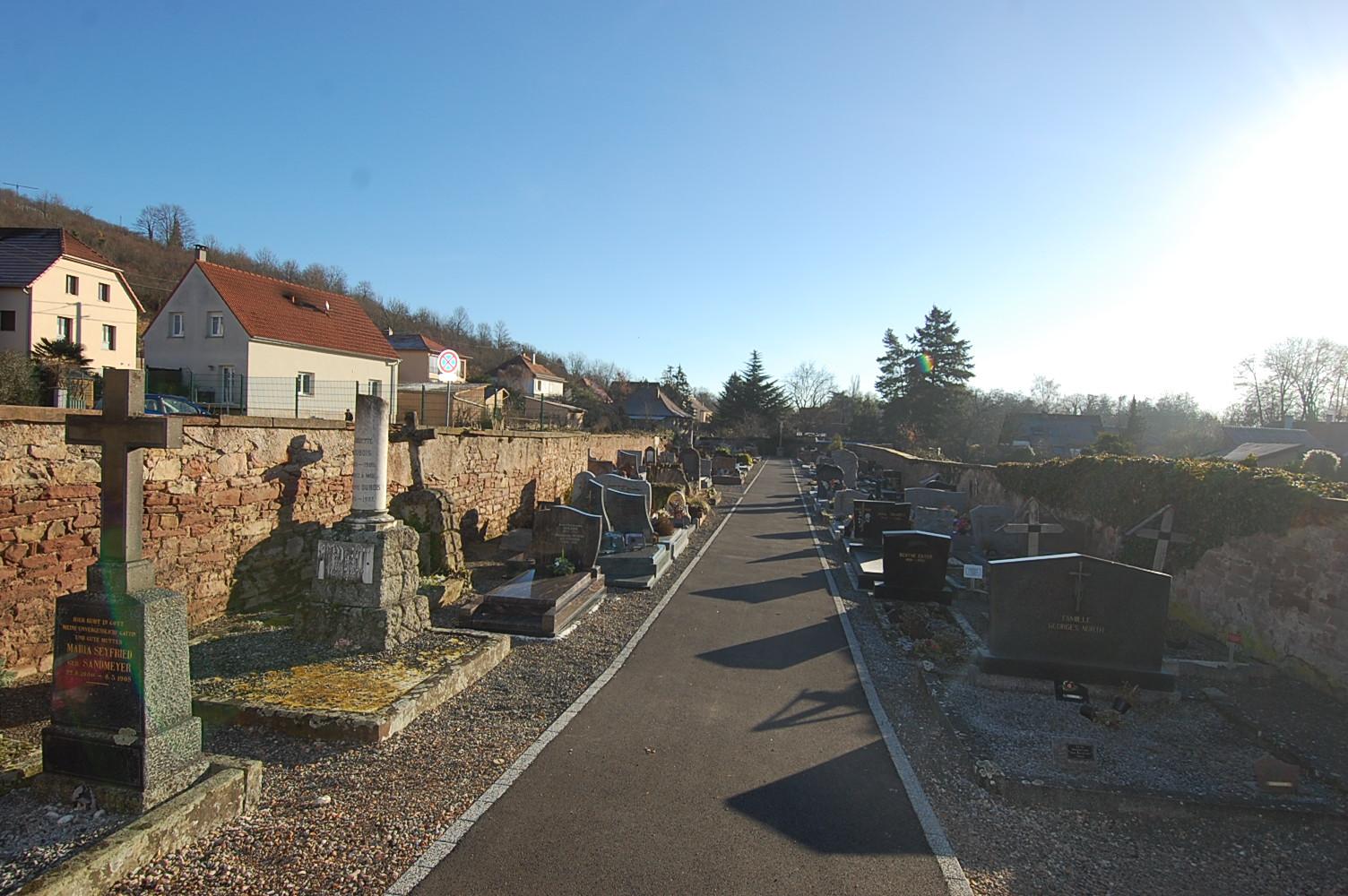 allée du cimetière de mutzig