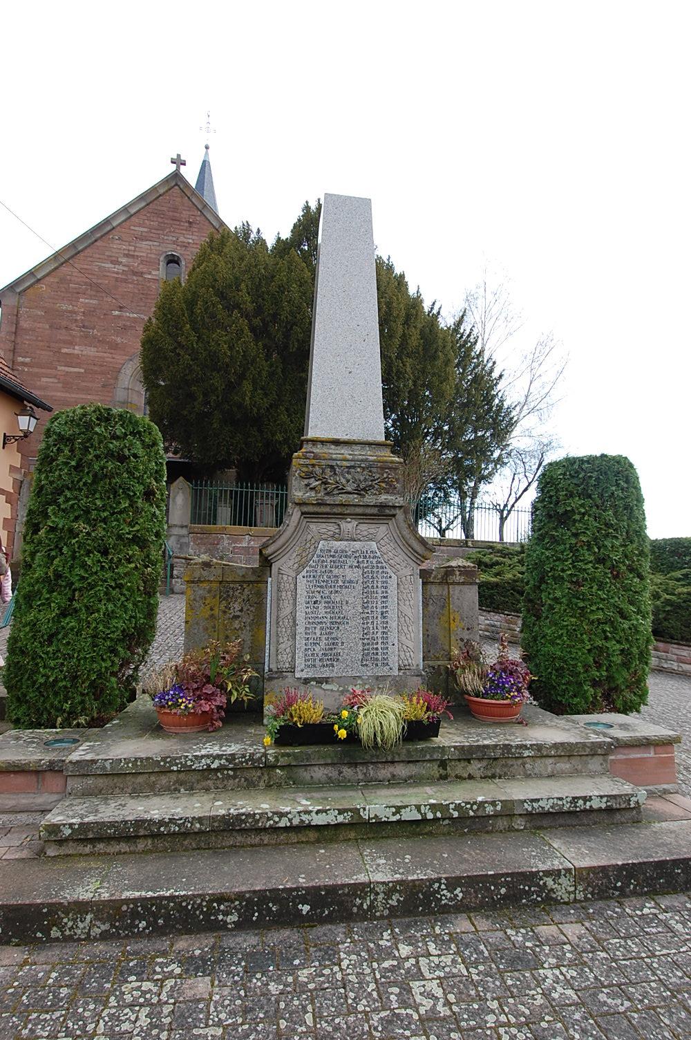 Monument aux Morts Obersoultzbach 67330
