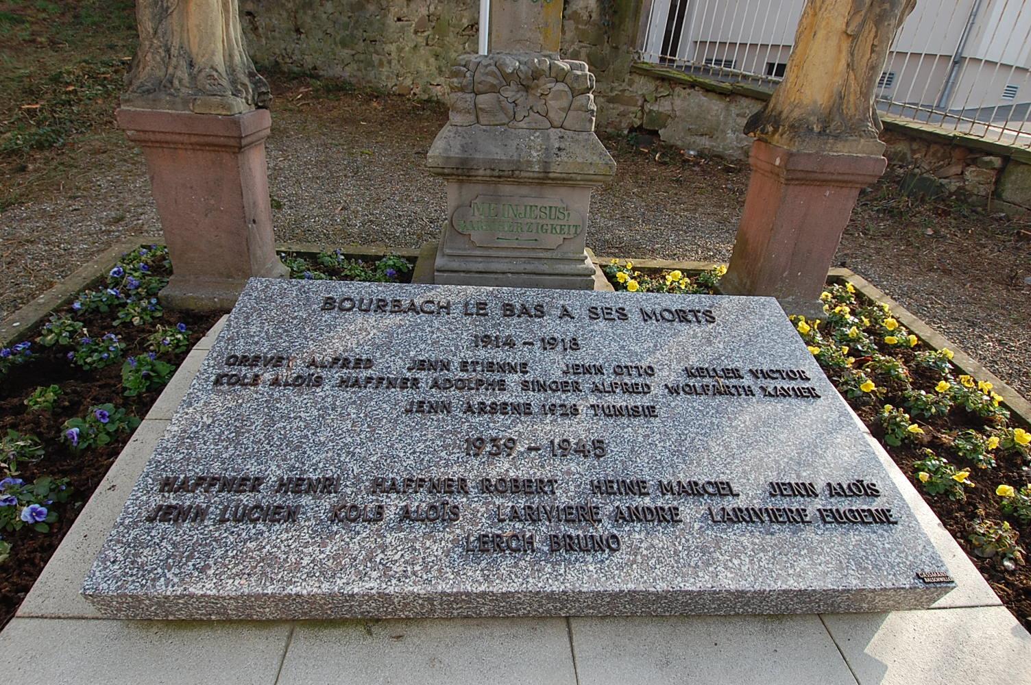 Monument aux Morts Bourbach-le-Bas