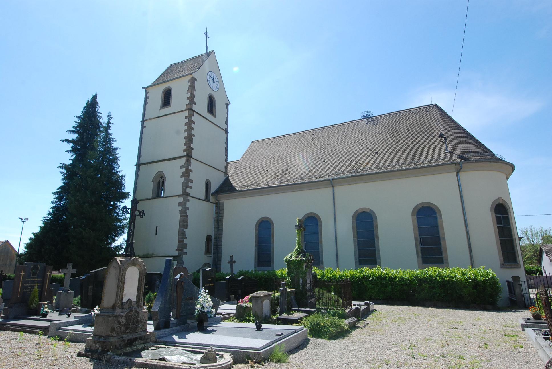 église et cimetière de Zimmersheim