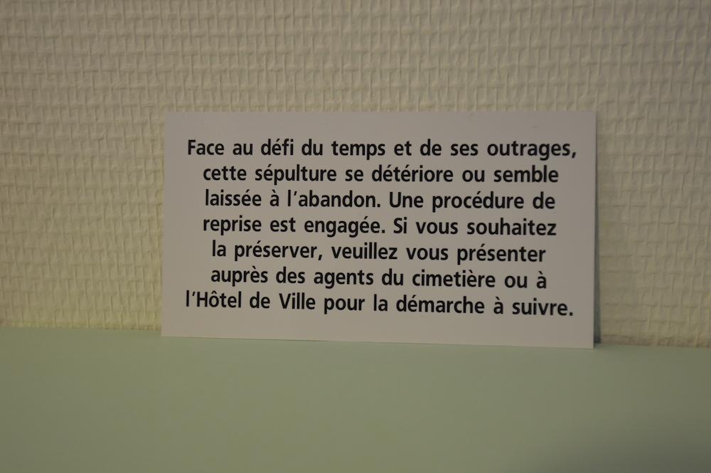 """Plaquette procédure d'abandon Texte 4bis: """"Face au défi du temps et de ses outrages..."""""""