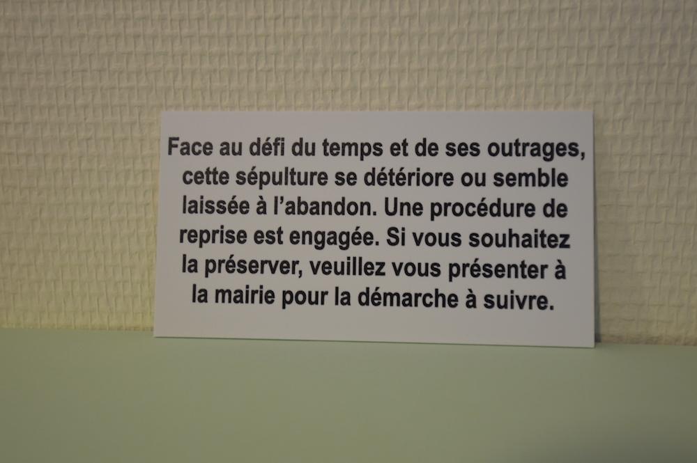 """Plaquette procédure d'abandon Texte 4 : """"Face au défi du temps et de ses outrages..."""""""