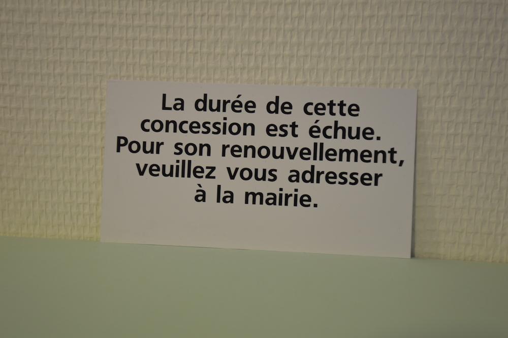 """Plaquette procédure d'abandon Texte 2 : """"La durée de cette concession est échue..."""""""