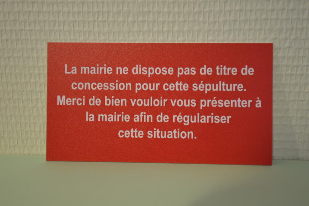 """Plaquette procédure d'abandon Texte 1 : """"La mairie ne dispose pas..."""""""