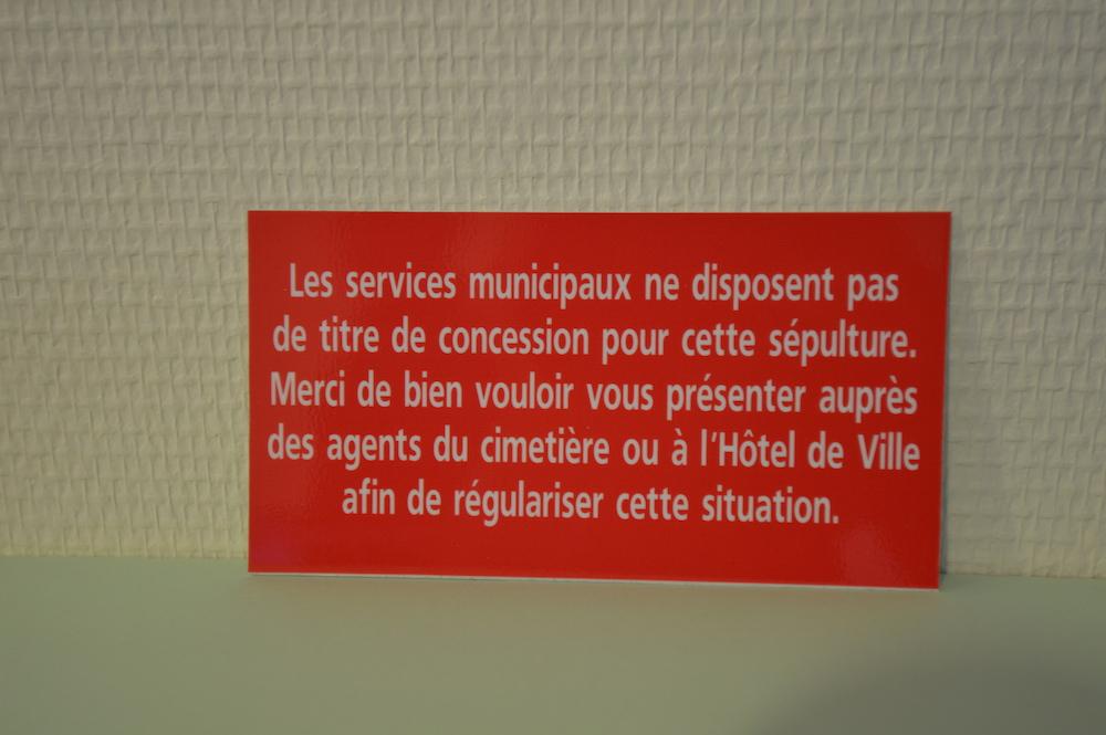 """Plaquette procédure d'abandon Texte 1bis : """"Les services municipaux ne disposent pas..."""""""